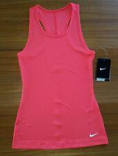 NWT $22 Nike Girls Ribbed Athletic Tank Top LARGE 14 PINK Laser Crimson 2471014