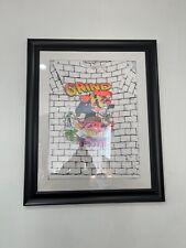 "VINTAGE 1991 Mario Bros ""Grind Time"" Shirt Framed YTH Large RARE Retro Nintendo"