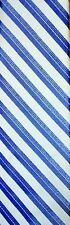 Calvin Klein Tie Steel silk Blue White striped 3 inch Width Nwts Stripe RET 60