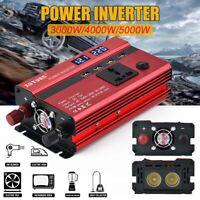 Power Inverter DC 12V/24V to AC 110V/220V Sine Wave Converter 3000W/4000W/5000W