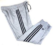 Adidas Men's Jogger Gray 3 Stripe Sweatpants Workout Athletic Sz XL