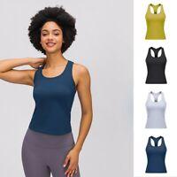 Damen Yoga Fitness Tank Top Training Jogging Ärmelloses Shirt Sport Oberteil Top