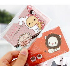 5 Pcs Cartoon Plastic Business Credit Card Cover Holder Protector #NM