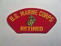 US Marine Corps Retired Red Hat Patch Military Cap Patch