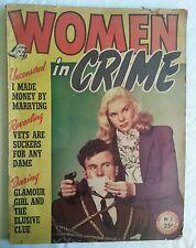 Women In Crime 3 RARE Magazine Bondage Cover 1946 Pulp True Fact Detective GGA