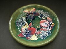 Signed Walter Moorcroft Footed Bowl / Dish in Orchid Pattern circa 1950
