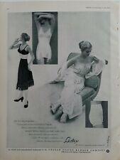 1949 women's US RUBBER girdle bra black slip vintage fashion ad