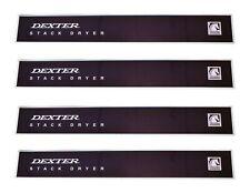 4 Pack 9412-084-001 Oem Upper Front Panel Decal Overlay Nameplate Dexter Dryer