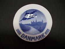 """Royal Copenhagen Plate 1923 Denmark Kronborg In Backround 3 3/4""""Dia Rc#390"""