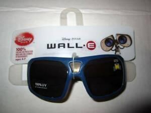 New Disney Store Boys Wall.E blue 100% UV Sunglasses 4-7 NWT