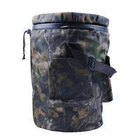 Spinning/Swivel Padded Camo Bucket Seat for Hunting Fishing with Storage Pocket