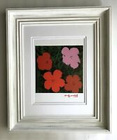 ANDY WARHOL ORIGINAL 1984 SIGNED FLOWERS PRINT MATTED TO BE FRAMED AT 11X14