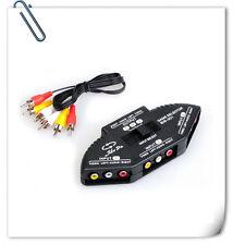 HD AV switcher audio and video splitter selector extender 3 in 1 out converter