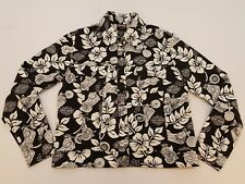 Harley Davidson Womens M Button Snap Button Long Sleeves Hawaiian Floral