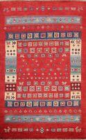 Geometric Super Kazak Oriental Area Rug Wool Hand-knotted Tribal 3x5 ft Carpet