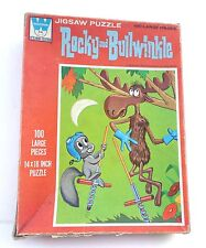 Vintage Whitman Rocky and Bullwinkle Puzzle 100 Large Pieces Complete Pogo Stick