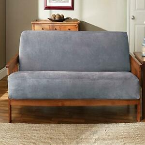 Sure Fit Futon Slipcover Soft Suede  smoke blue NEW
