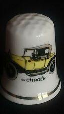 1927 CITROEN TORPEDO B12 CAR ANDRE CITROEN PARIS  FINE CHINA SOUVENIR THIMBLE
