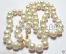 Real 10-11mm South Sea White Pearl Necklace Bracelet Set