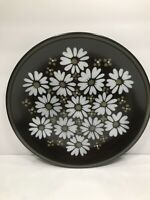 ONE MIKASA SERVING PLATTER PLATE RAVENNA 7505 ''MAJORCA'' DAISIES ON BROWN JAPAN