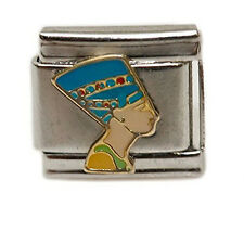 Ancient Egyptian Queen Nefertiti Italian Link Bracelet Charm