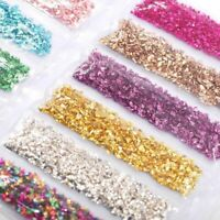 Broken Glass Stones Set Crystal UV Epoxy Resin Filler DIY Crafts Decorations Kit