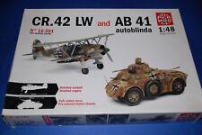 Fiat CR.42 LW + blindado AB 41 Autoblinda - Supermodel 10-501  escala 1/48