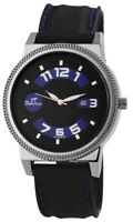 Time Tech Herrenuhr Schwarz Blau Analog Silikon Quarz Armbanduhr X227673000007