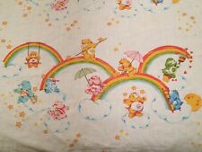 1983 CARE BEARS Twin Flat & Fitted Bedding Bed Sheets American Greetings Vintage