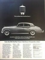 1963 Rolls Royce Silver Cloud Vintage Advertisement Print Art Car Ad Poster LG78