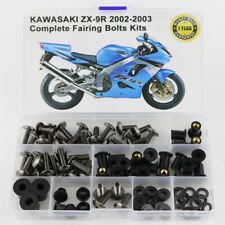 For Kawasaki ZX-9R 2002 2003 ZX-9R Fairing Bolt Kit Bodywork Screws Titanium