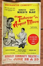 The Teahouse of the August Moon 14x22 Poster 1955 Berkeley Community Theatre