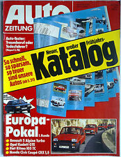 Auto ZEITUNG 24.2.84 Renault 5 Alpine Turbo OPEL GTE Fiat Ritmo 105 TC HONDA CRX