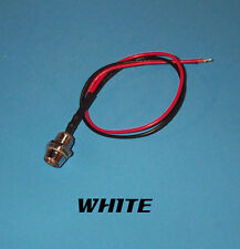 LED - 5mm PRE WIRED 12 VOLT WITH CHROME BEZEL - WHITE