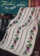 Fleisher's #80 co 1947 New Smart Afghan Patterns in Crochet & Knitting