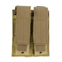 MOLLE 2 Pocket Magazine TAN Pouch fits Hk P2000 P30 VP9 VP40 USP Walther P22 P99