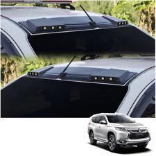 Front Leds Roof Gap Spoiler Black Fits Mitsubishi Pajero Montero Sport 16 - 2017