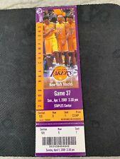 NBA- LOS ANGELES LAKERS VS. NEW YORK KNICKS-APR.1,2001-KOBE BRYANT GAME- TICKET