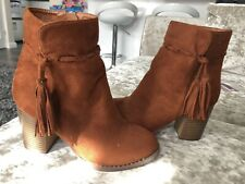 Brown Small Heel Boots Size 4 BNWT
