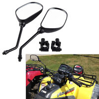 10mm Rear View Mirror with Adapter Clamp Mount Complete Set for Universal ATV