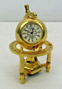 Bulova Miniature Clock PLANETARIUM Mini Collectible Clock Globe B0573