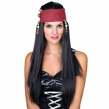 CARRIBBEAN PIRATE GIRL WIG HALLOWEEN FANCY DRESS UP COSTUME ACCESSORY FREE UK PP