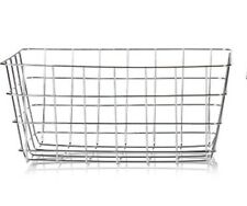 Chrome Silver Metal Geometric Storage Wire Basket Multi Purpose Dine Decor Gift