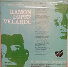 HOMENAJE NACIONAL A RAMON LOPEZ VELARDE 50 ANIVERSARIO DE SU MUERTE MEXICAN LP