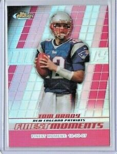 2008 Topps Finest TOM BRADY Finest Moments REFRACTOR #FM-TB PATRIOTS