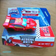 Transformers RESCUE BOTS SIDESWIPE Pull-back Race Car PLAYSKOOL HEROES Hasbro
