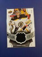 2018-19 Upper Deck UD Game Jersey Relic TR Tuukka Rask - Boston Bruins