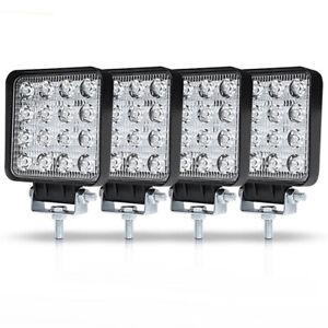 4PCS 80W LED Work Light Bar Fog Lamp For Truck OffRoad Tractor Lamp 12V/24V