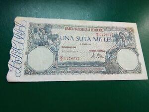 ROMANIA - 100000 LEI 20 DECEMBER 1945 - BANKNOTES