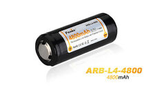 FENIX Battery 4800 mAh Rechargeable ARB-L4 26650 Litio Li-Ion - Genuine Part